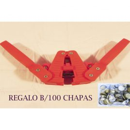 Capsulador Magnético + B/100 chapas 26 mm.